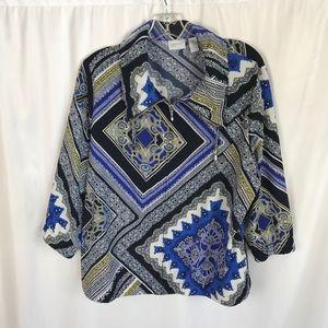 Chico's size 2 zenergy artistic windbreaker jacket